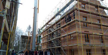 Richtfest der SWP-Holzhäuser!